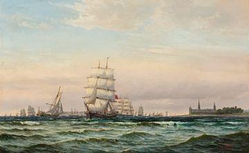 skipstrafikk i øresund by edvard skari