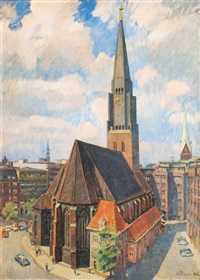 st. jacob's church in hamburg by heinrich rode