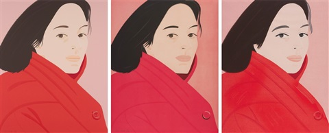 brisk day i ii iii complete set of 3 works by alex katz