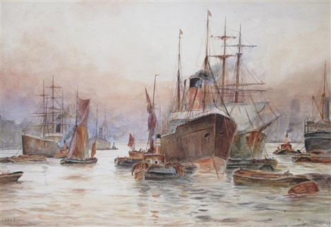 lower pool london by frederick william scarborough