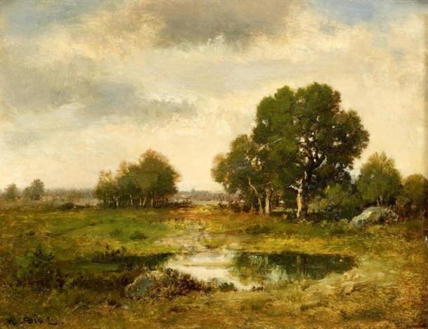 paysage à la mare by narcisse virgile diaz de la peña