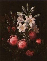 roses and lilies by hansine kern-eckersberg