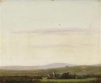 landscape at dusk by gluck (hannah gluckstein)
