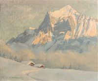 le wetterhorn by charles henry contencin
