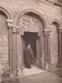 ely cathedral; prior's door and old bedesman, england by frederick henry evans