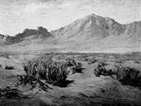 desert and distant mountains by bertha menzler peyton