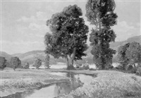 friedliche landschaft by a. herbe