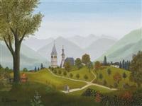 kitzbühel vom lehenberg gesehen by regine dapra