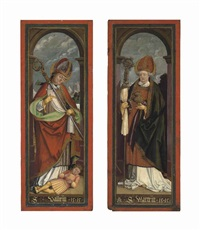 saint valentine; saint martin (pair) by german school (16)