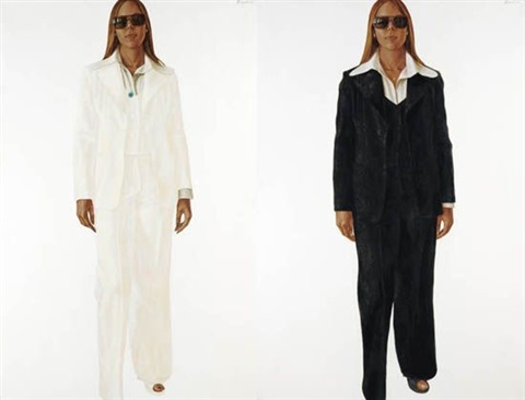 twins diptych by barkley l hendricks