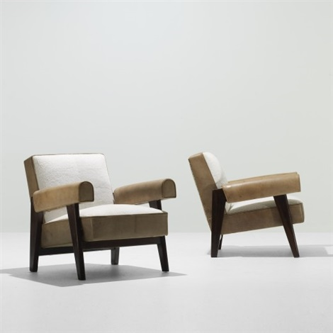 Exceptionnel Lounge Chairs From The High Court, Chandigarh (pair) By Le Corbusier And  Pierre