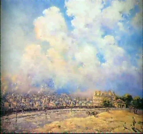 paris vu des hauteurs de montmartre by gaston cornil