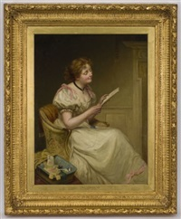 young woman reading by sir william quiller orchardson
