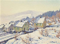 neige à georgenborn by gustave camille gaston cariot