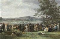 course à l'hippodrome de longchamps by edme-emile laborne