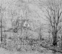 farm house in spring by walter hamilton soley