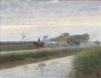 the horses are brought home by frants peter didrik henningsen