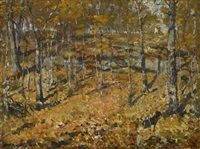 autumn woods by henry ward ranger