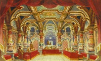 theatre design for a mediaeval interior by ivan petrovich andreev