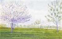 blühender obstbaum by albert trachsel