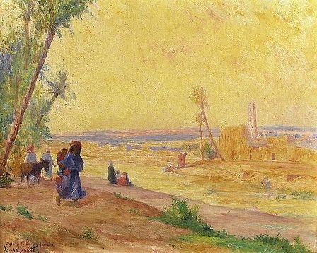 scène champêtre près dun village by louis françois cabanes