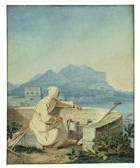 blick auf den monte pellegrino by karl wilhelm von heideck