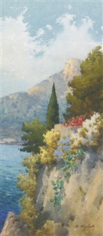 flowers on the amalfi coast by b. righetti