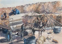 a donkey cart carrying wood by durant basi sihlali