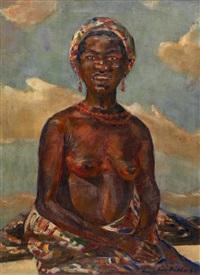 portrait de femme noire by julius hutter