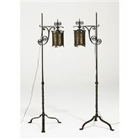 adjustable floor lamps (pair) by j. barton benson