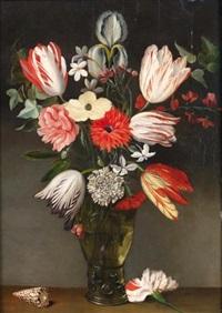bouquet de fleurs dans un vase by philippe de marlier