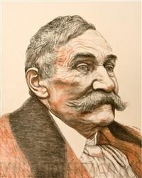 retrato de don benito perez galdós by manuel alcorlo