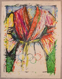 olympic robe (from games of the xxivth olympiad seoul) by jim dine