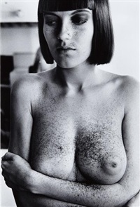 arielle after haircut by helmut newton