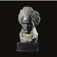 a head of beethoven by honoré sausse