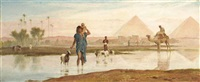 crossing the pool, egypt by frederick goodall