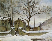 paesaggio sotto la neve by alfonso corradi
