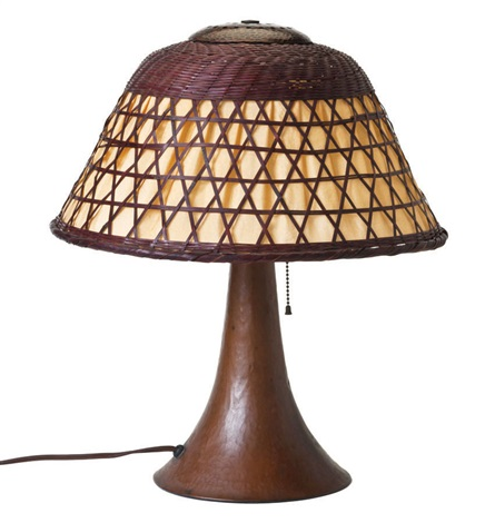 table lamp by gustav stickley