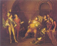 falstaff and prince hal by john cawse