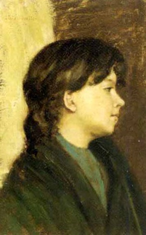 giovinetta di profilo by lino selvatico
