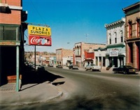 lounge painting, gila bend, arizona (+ sundries, las vegas, new mexico; 2 works) by wim wenders