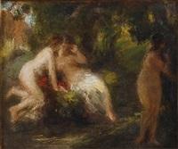bañistas en el bosque by théodore fantin-latour