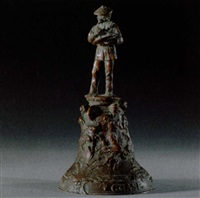 a tribute to william merritt chase: a bronze bell by theodore baur