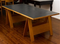 trestle table by george freedman