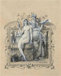 projet d'illustration : allégorie des arts et de la prudence by luc olivier merson