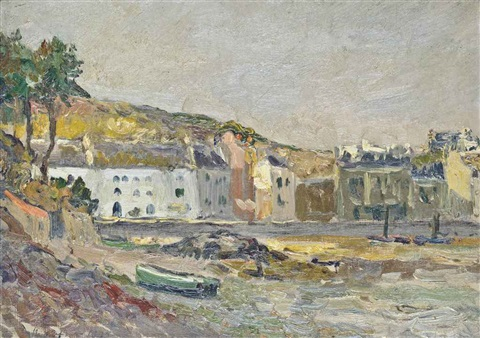 belle île sauzon le port by maxime maufra