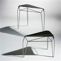 small and medium volume vanishing nesting tables (prototype) by flip sellin