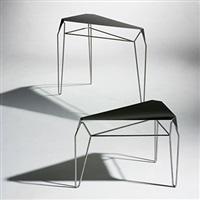 small and medium volume vanishing nesting tables (prototype) by flip sellin