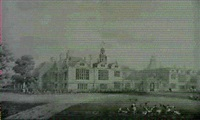perspective view of a design for the south front of combe abbey, warwickshire a louis xiv drawing... by lewis nockalls cottingham