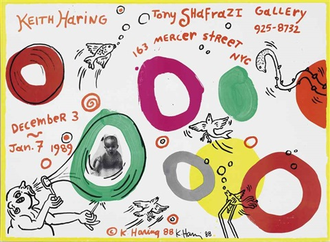 tony shafrazi gallery exhibition poster by keith haring